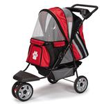 View Image 3 of Guardian Gear Roadster II Dog Stroller - Red