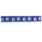 View Image 2 of Guardian Gear Two Tone Pawprint Dog Collar - Blue