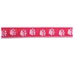 View Image 2 of Guardian Gear Two Tone Pawprint Dog Collar - Pink
