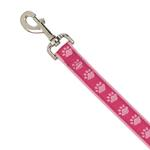 View Image 2 of Guardian Gear Two Tone Pawprint Dog Leash - Pink