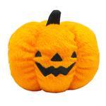 View Image 1 of Halloween Plush Pumpkin Dog Toy