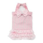 View Image 1 of Halter Woven Dog Dress by Dogo - Pink