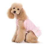 View Image 4 of Halter Woven Dog Dress by Dogo - Pink