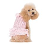 View Image 2 of Halter Woven Dog Dress by Dogo - Pink