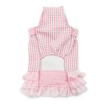 View Image 3 of Halter Woven Dog Dress by Dogo - Pink