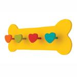 View Image 1 of Hand Painted Bone Leash Holder - Yellow
