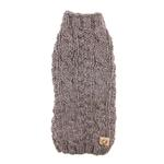 View Image 1 of Handmade Cable Knit Wool Dog Sweater - Gray