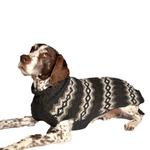 View Image 1 of Handmade Nordic Diamond Wool Dog Sweater - Gray
