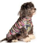 View Image 1 of Handmade Woodstock Wool Dog Sweater - Purple