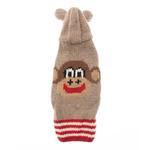 View Image 1 of Handmade Wool Monkey Dog Hoodie with Ears