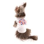 View Image 3 of Happy 4th of July Dog Shirt - White