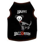 View Image 1 of Happy Halloween Skeleton Dog Tank - Black