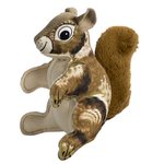 View Image 1 of Happy Tails Critterz Canvas Dog Toy - Squirrel