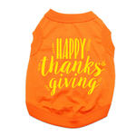 View Image 1 of Happy Thanksgiving Dog Shirt - Orange