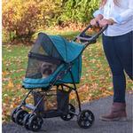 View Image 4 of Happy Trails Lite No-Zip Pet Stroller - Pine Green