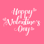 View Image 2 of Happy Valentine's Day Dog Hoodie - Pink