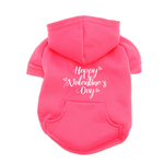 View Image 1 of Happy Valentine's Day Dog Hoodie - Pink