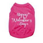 View Image 1 of Happy Valentine's Day Dog Shirt - Raspberry