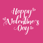 View Image 2 of Happy Valentine's Day Dog Shirt - Raspberry