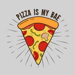 View Image 2 of Pizza is My Bae Dog Shirt - Gray