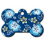 View Image 1 of Hawaiian Bone Large Engravable Pet I.D. Tag - Blue