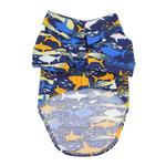 View Image 3 of Hawaiian Camp Shirt by Doggie Design - Island Sharks