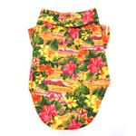 View Image 2 of Hawaiian Camp Shirt by Doggie Design - Sunset Hibiscus