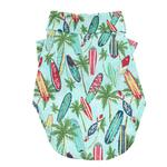 View Image 2 of Hawaiian Camp Shirt by Doggie Design - Surfboards and Palms