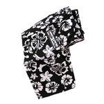 View Image 1 of Hawaiian Print Dog Board Shorts - Black