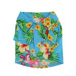 View Image 2 of Hawaiian Print Dog Shirt - Blue
