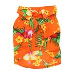 View Image 2 of Hawaiian Print Dog Shirt - Orange