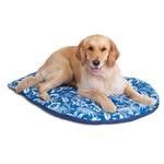View Image 1 of Hawaiian Travel Dog Bed by Doggles - Blue