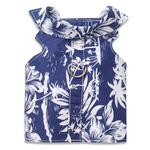 View Image 1 of Hawaiian Vest Dog Harness by Doggles - Blue