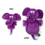 View Image 1 of HEAR DOGGY! Flatties with Ultrasonic Squeaker Dog Toy - Elephant