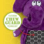 View Image 3 of HEAR DOGGY! Flatties with Ultrasonic Squeaker Dog Toy - Elephant