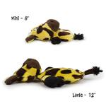 View Image 2 of HEAR DOGGY! Flatties with Ultrasonic Squeaker Dog Toy - Giraffe