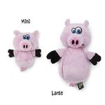 View Image 1 of HEAR DOGGY! Flatties with Ultrasonic Squeaker Dog Toy - Pig