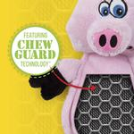 View Image 3 of HEAR DOGGY! Flatties with Ultrasonic Squeaker Dog Toy - Pig