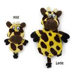 View Image 1 of HEAR DOGGY! Flatties with Ultrasonic Squeaker Dog Toy - Giraffe