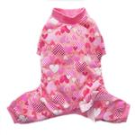 View Image 1 of Heart Dog Pajamas by Pooch Outfitters