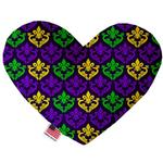 View Image 1 of Heart Dog Toy - Classic Fleur de Lis