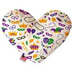 View Image 1 of Heart Dog Toy - Mardi Gras Masks