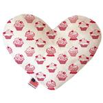 View Image 1 of Heart Dog Toy - Pink Whimsy Cupcakes