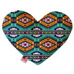 View Image 1 of Heart Dog Toy - Turquoise Southwest