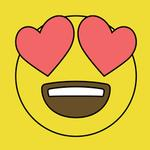 View Image 2 of Heart Eyes Emoji Dog Shirt - Yellow
