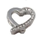 View Image 1 of Heart Slider Dog Collar Charm by FouFouDog- Clear