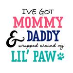 View Image 2 of I've Got Mommy & Daddy Wrapped Around My Little Paw Dog Shirt - White