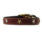 View Image 1 of Heirloom Old Glory Dog Collar by Auburn Leathercrafters - Burgundy