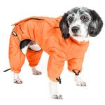 View Image 3 of Helios Thunder Full-Body Dog Coat - Sporty Orange