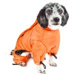 View Image 4 of Helios Thunder Full-Body Dog Coat - Sporty Orange